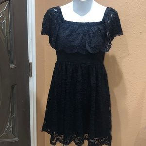 Francesca's black lace dress